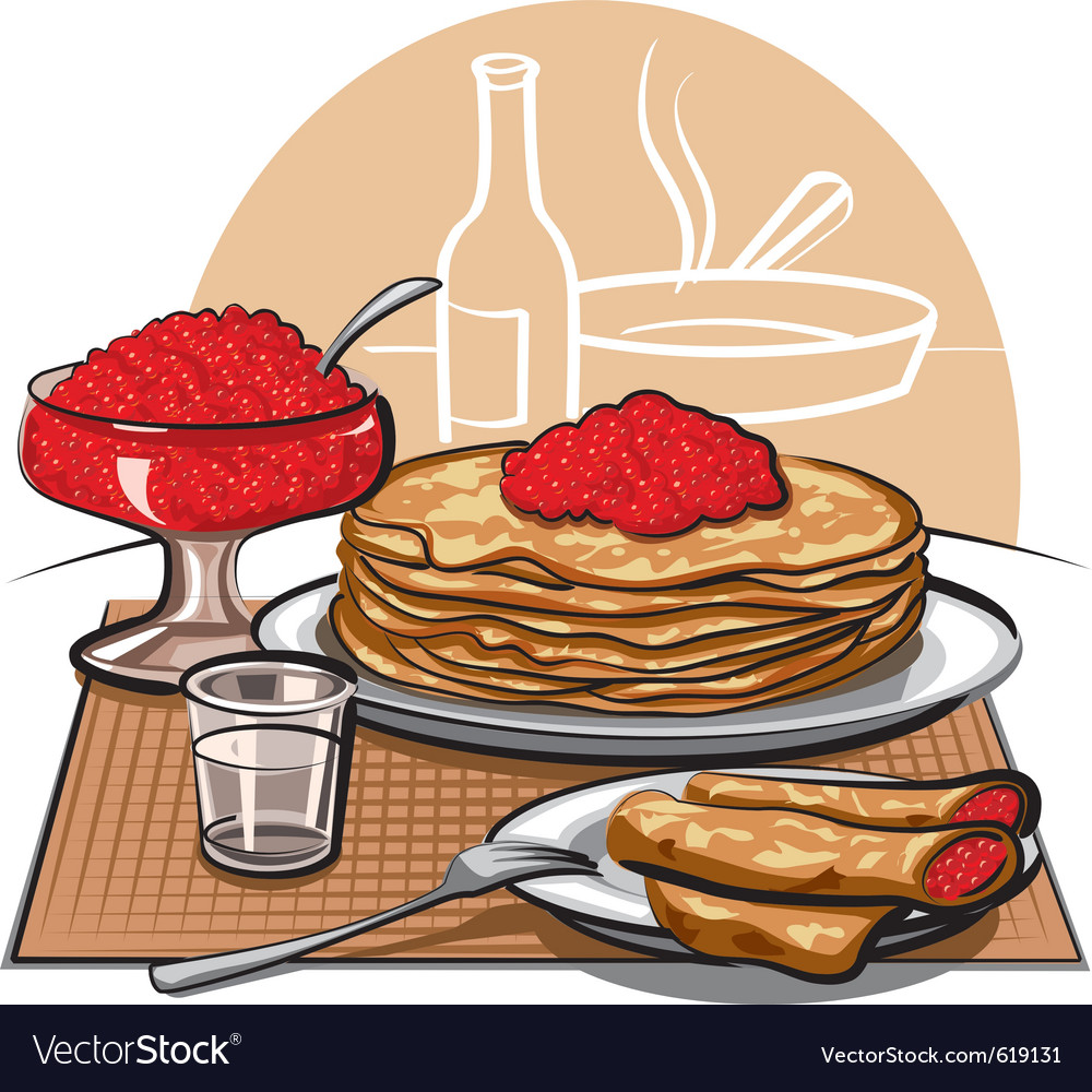 Crepes with raspberries for breakfast vector | Price: 3 Credit (USD $3)