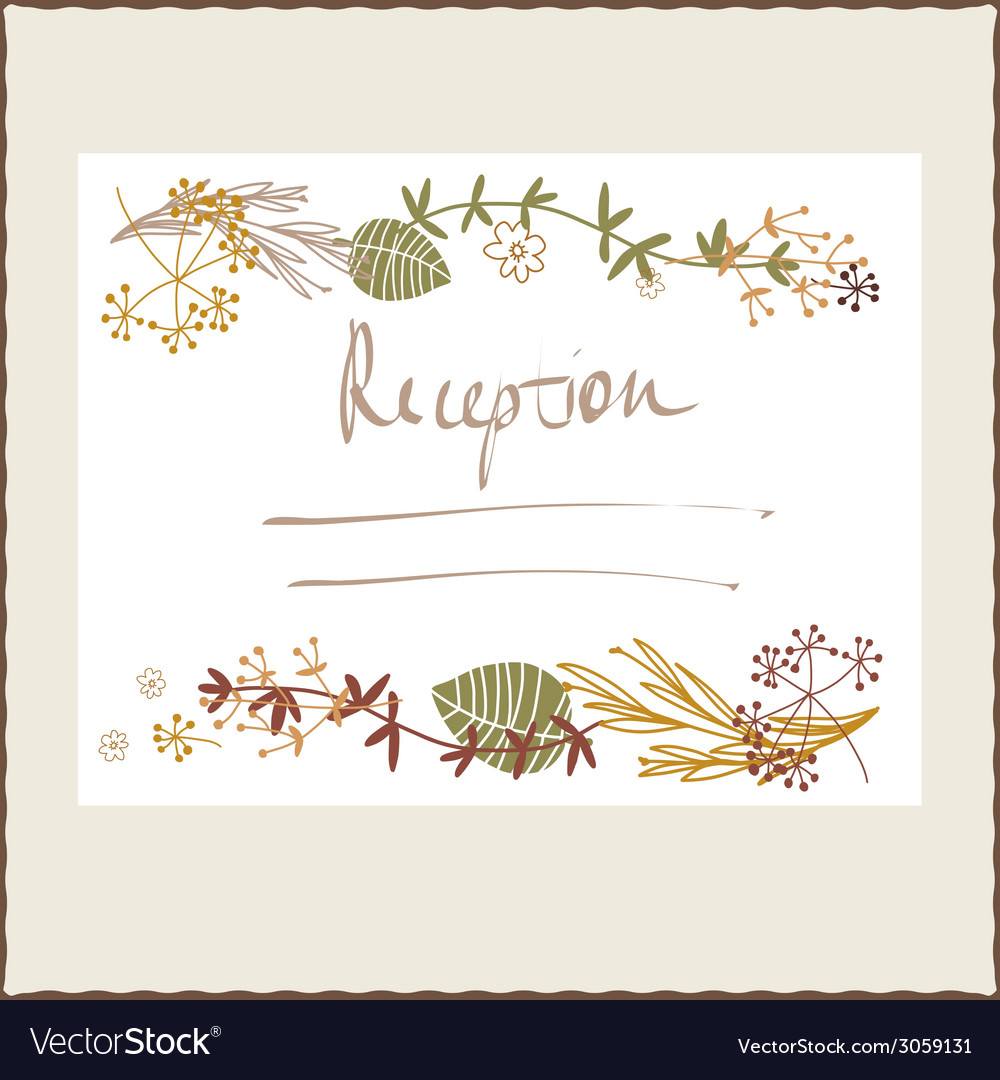 Floral autumn reception design vector