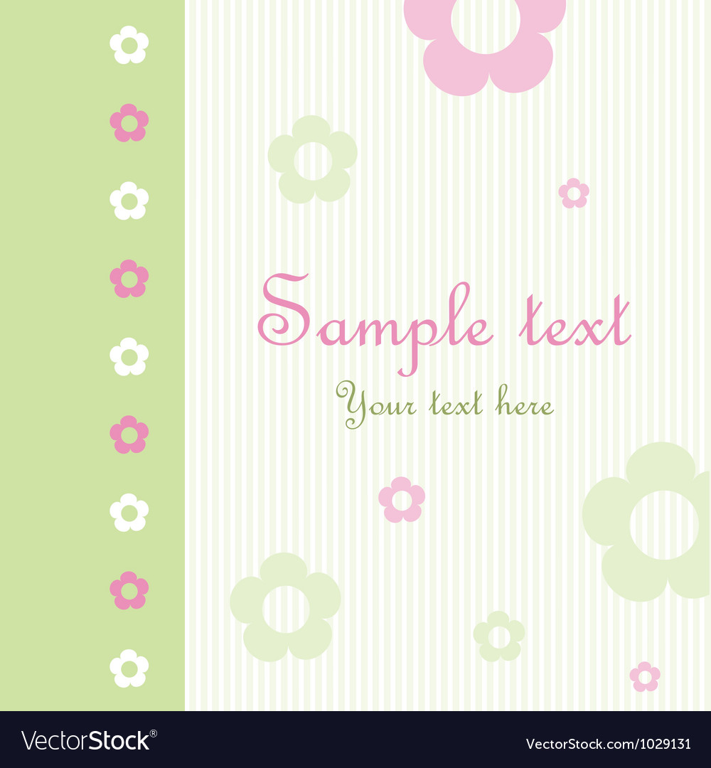 Floral pattern greeting card vector | Price: 1 Credit (USD $1)