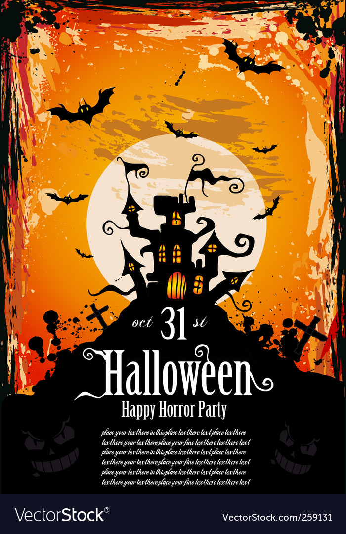 Halloween party flyer vector | Price: 3 Credit (USD $3)