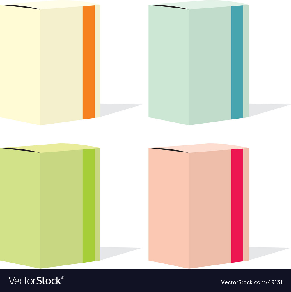 Painkillers carton box set vector | Price: 1 Credit (USD $1)