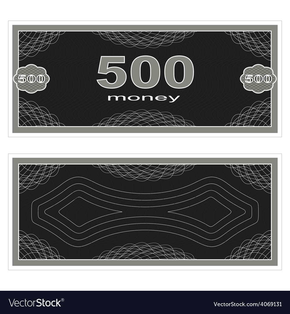 Play money five hundred vector | Price: 1 Credit (USD $1)