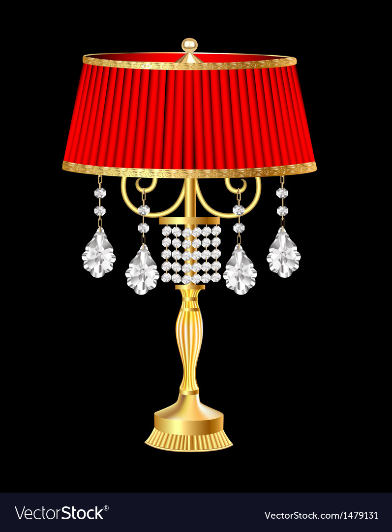 Red table lamp vector | Price: 1 Credit (USD $1)