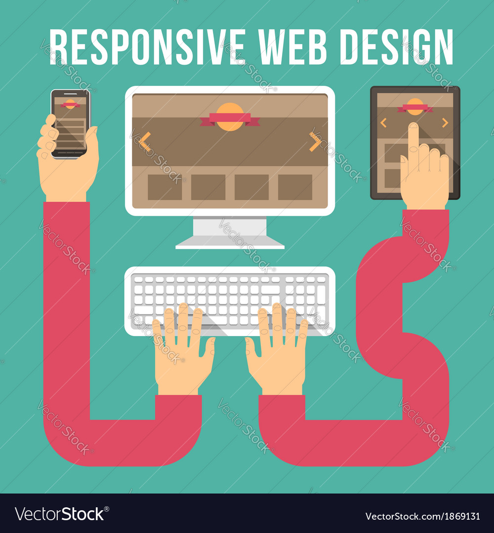 Responsive web design connection vector | Price: 1 Credit (USD $1)