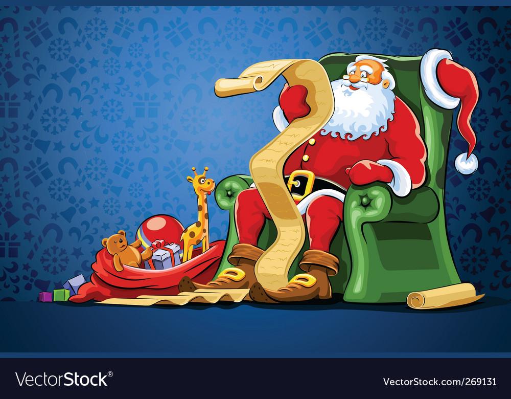 Santa claus background vector | Price: 3 Credit (USD $3)