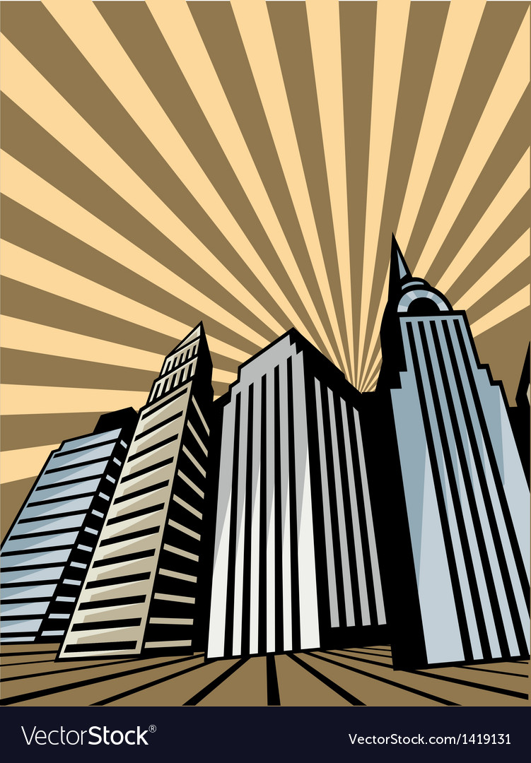 Skyscraper towers vector | Price: 1 Credit (USD $1)