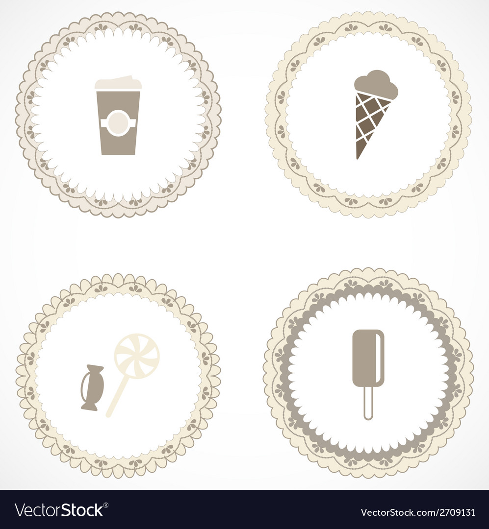 Vintage labels with icons vector   Price: 1 Credit (USD $1)