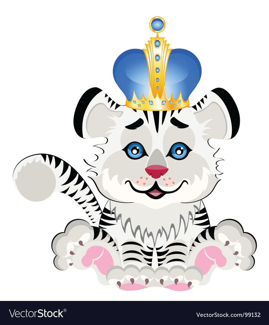 Animal king cartoon vector | Price: 1 Credit (USD $1)