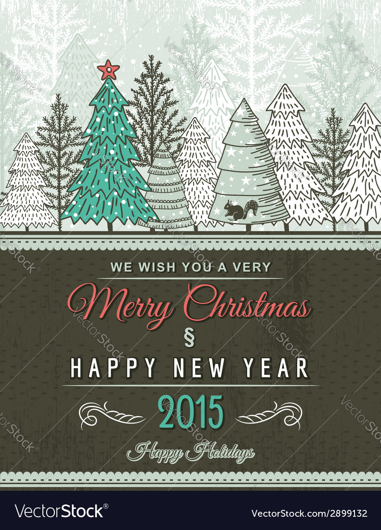 Beige christmas card with decorative ornament vector | Price: 1 Credit (USD $1)