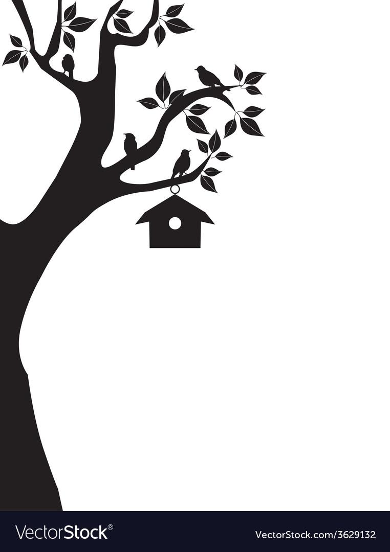 Bird house vector | Price: 1 Credit (USD $1)