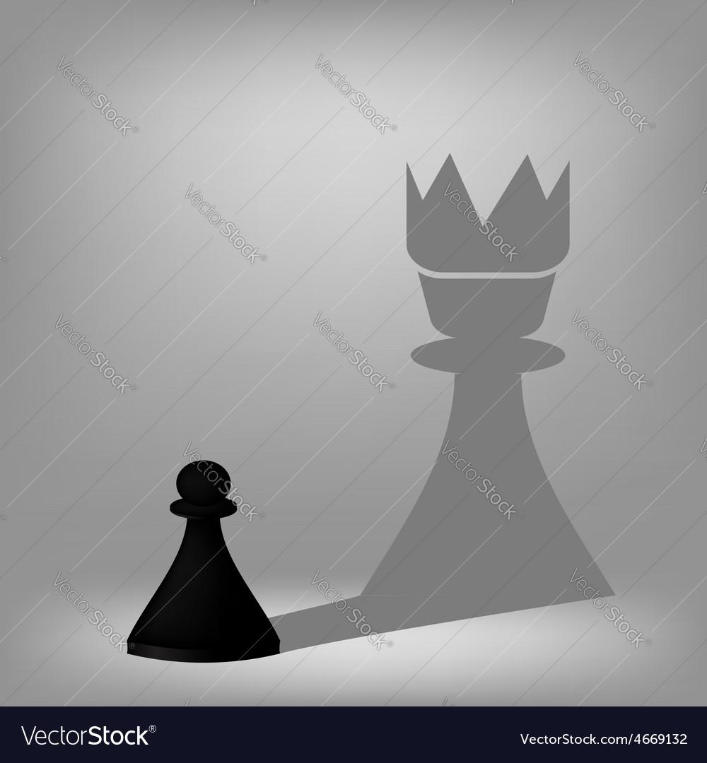 Black pawn vector | Price: 1 Credit (USD $1)
