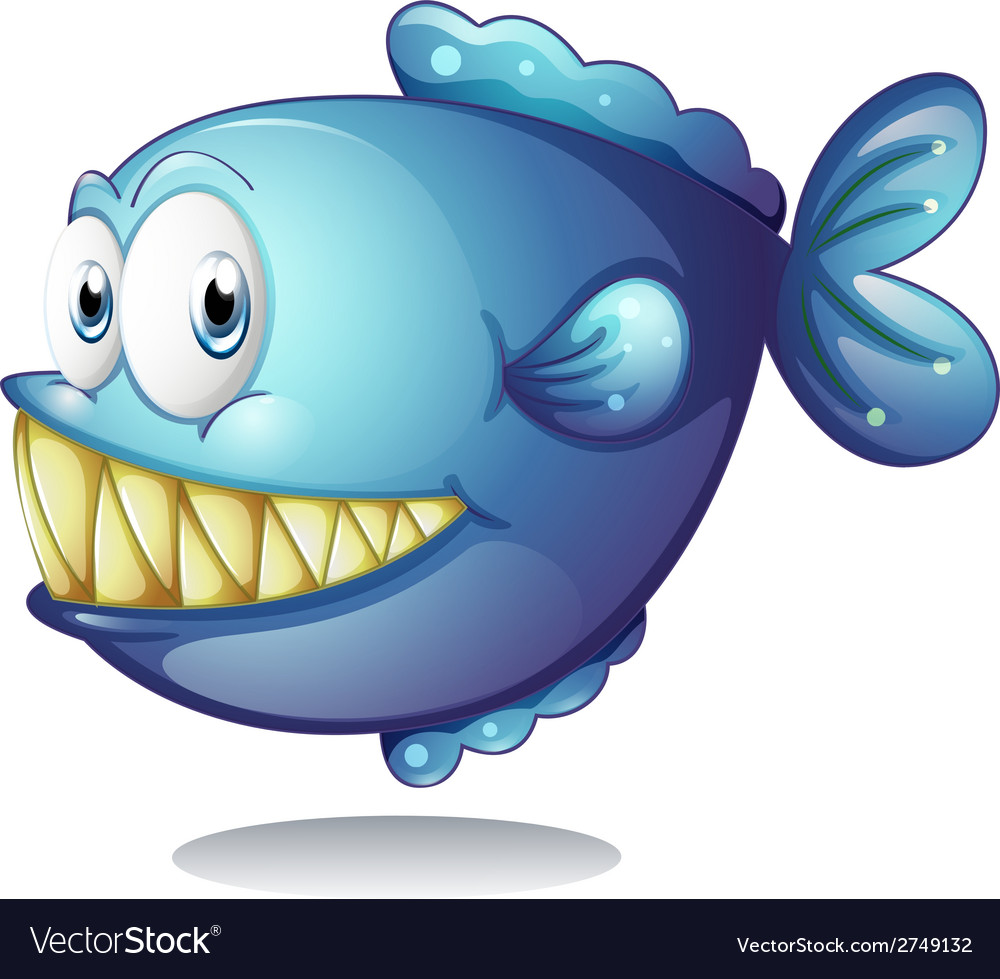 Blue fish vector | Price: 1 Credit (USD $1)