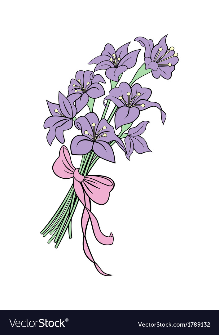 Bouquet from abstract lilies vector | Price: 1 Credit (USD $1)