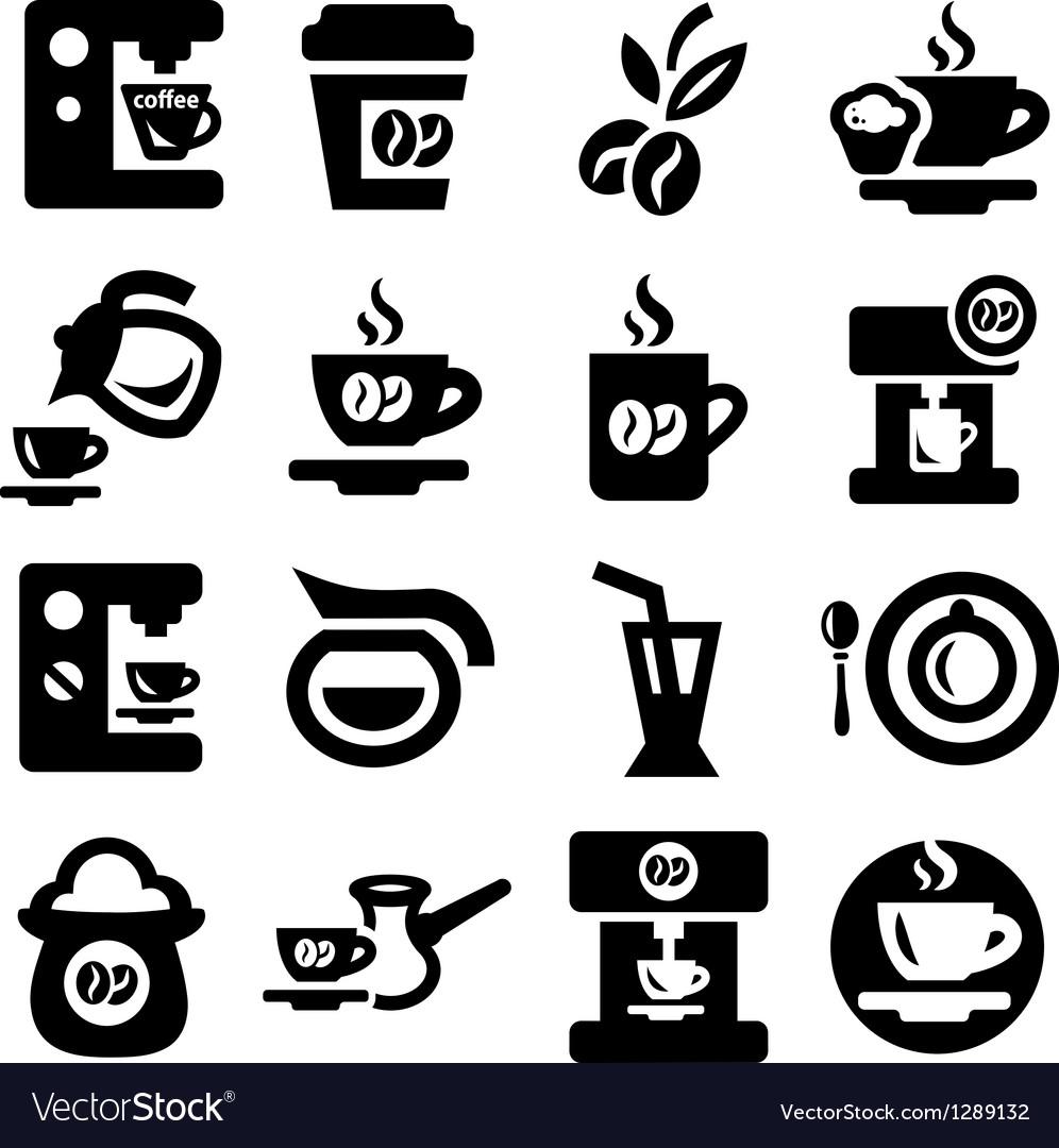 Coffee icons set vector | Price: 1 Credit (USD $1)