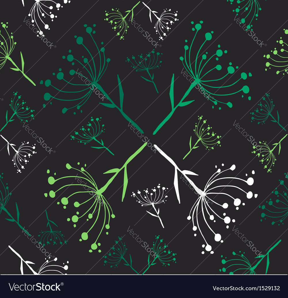 Dandelion flower pattern vector | Price: 1 Credit (USD $1)