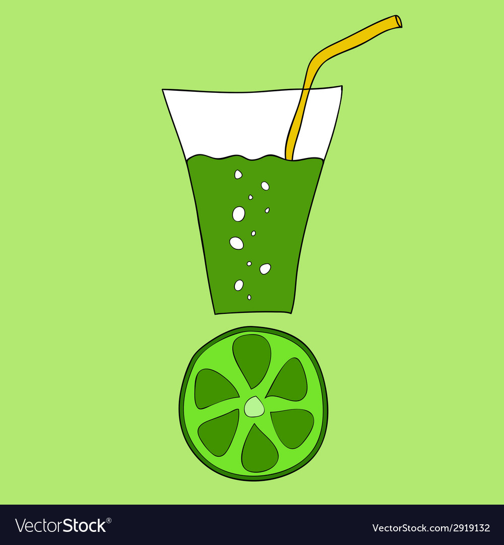 Doodle lime juice vector | Price: 1 Credit (USD $1)