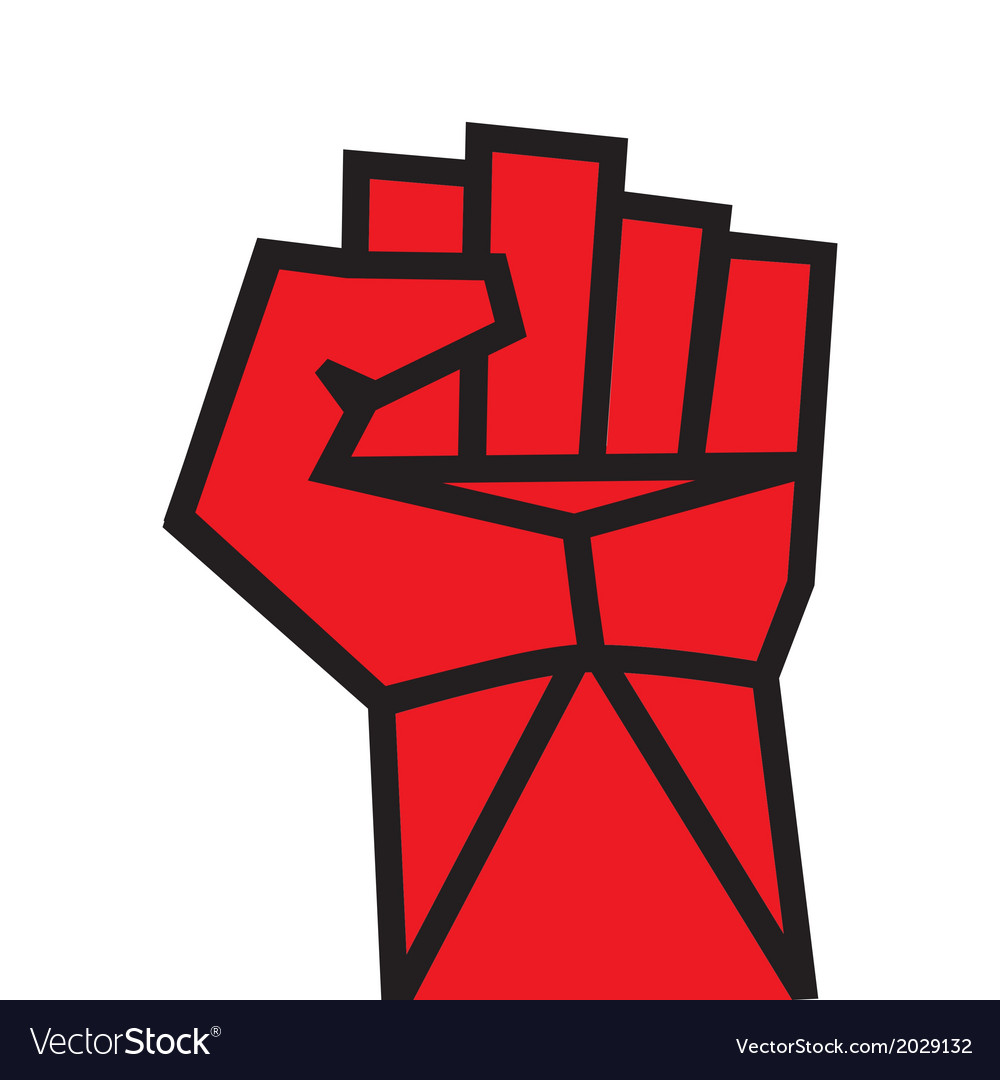 Fist red clenched hand vector | Price: 1 Credit (USD $1)
