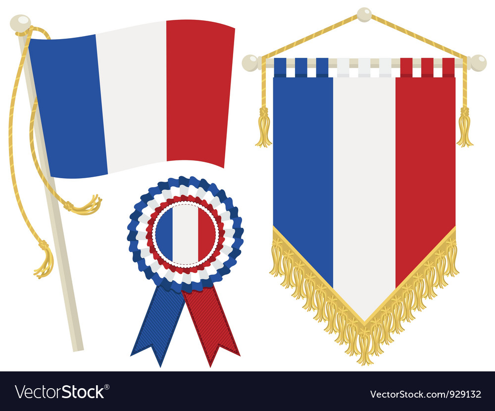 France flags vector | Price: 1 Credit (USD $1)