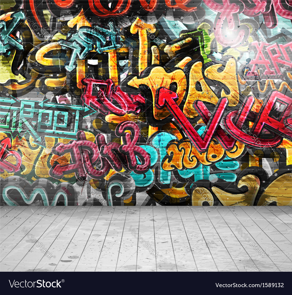Graffiti on wall vector | Price: 1 Credit (USD $1)