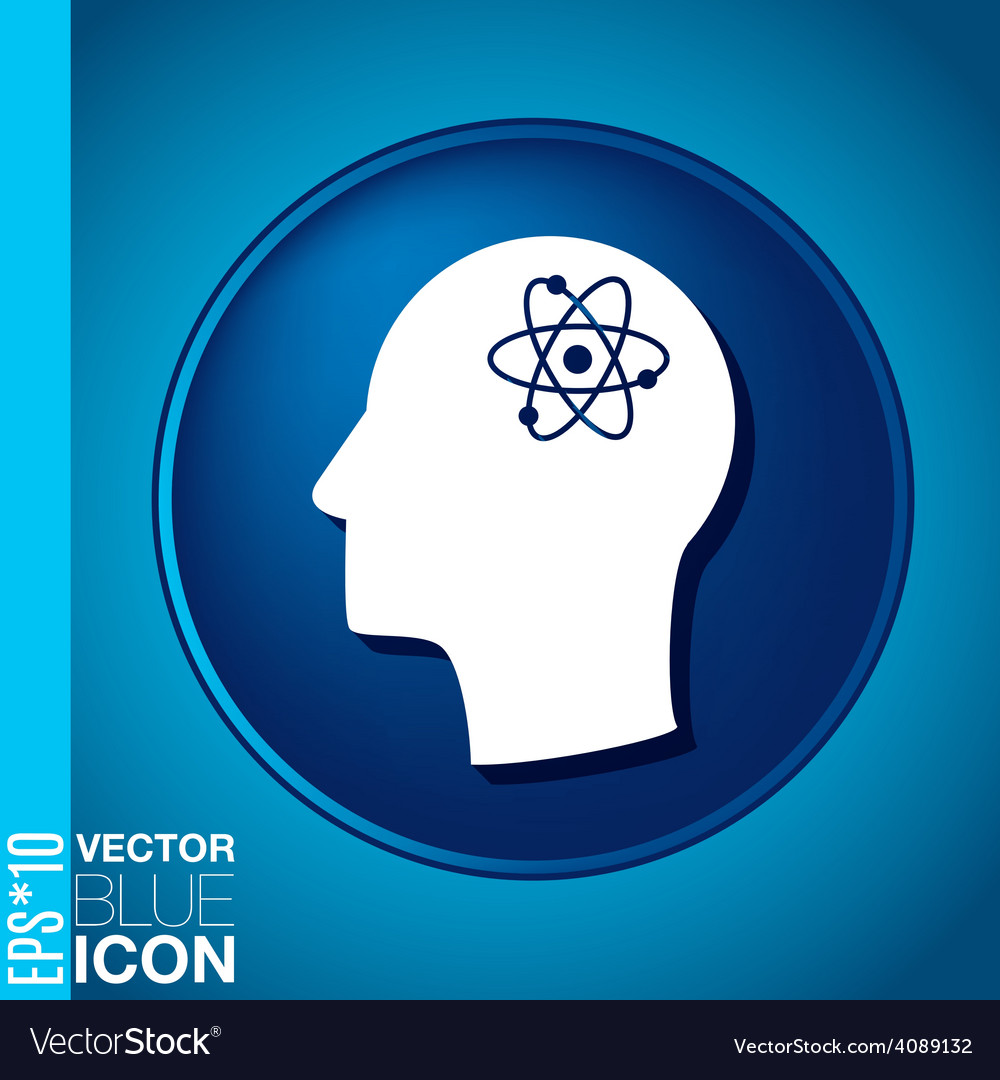Icon head think silhoutte man and his mind about t vector | Price: 1 Credit (USD $1)