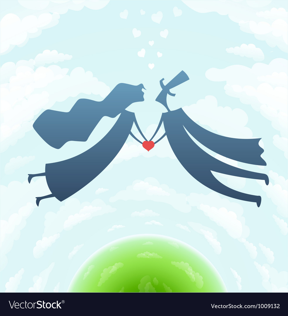 Loving man and woman with vector | Price: 1 Credit (USD $1)