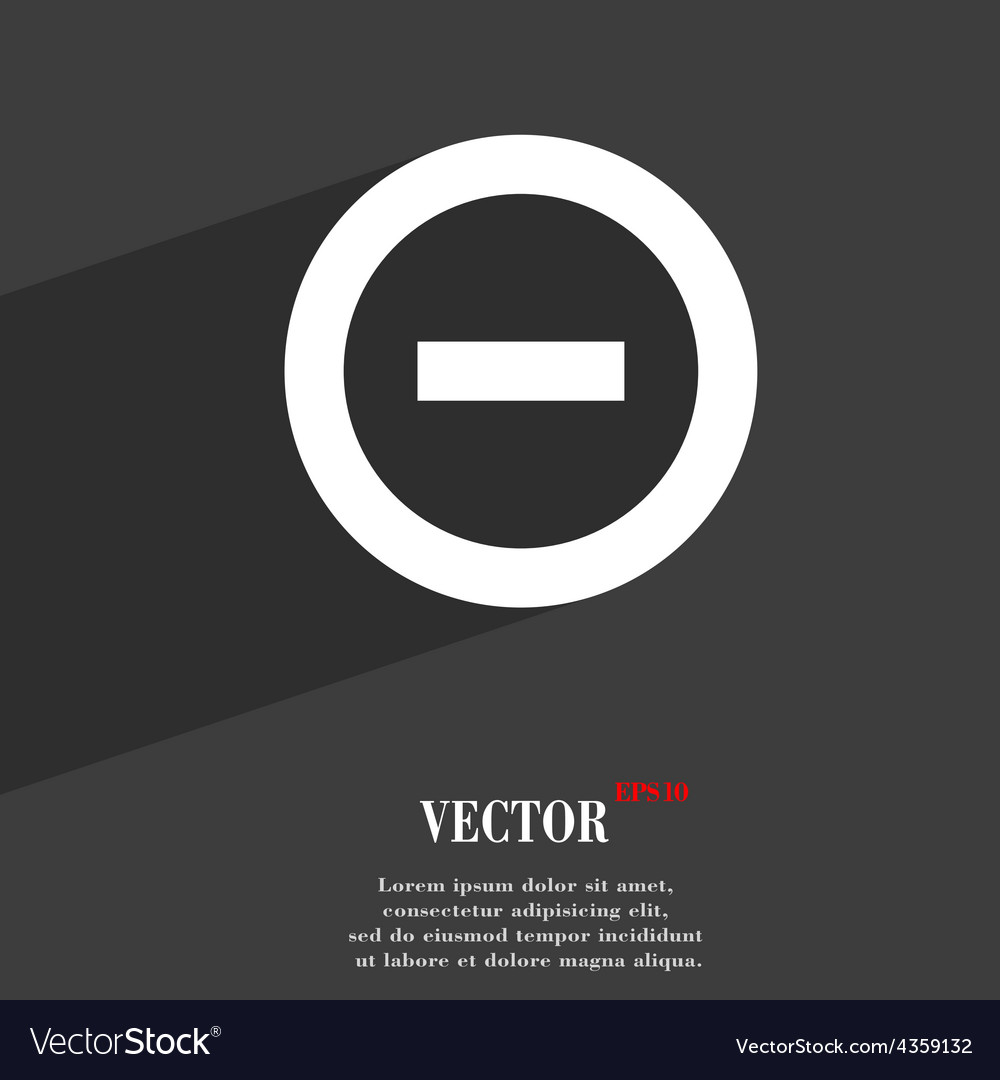 Minus negative zoom stop icon symbol flat modern vector | Price: 1 Credit (USD $1)