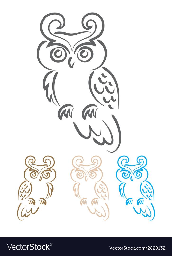 Owl bird tribal vector   Price: 1 Credit (USD $1)