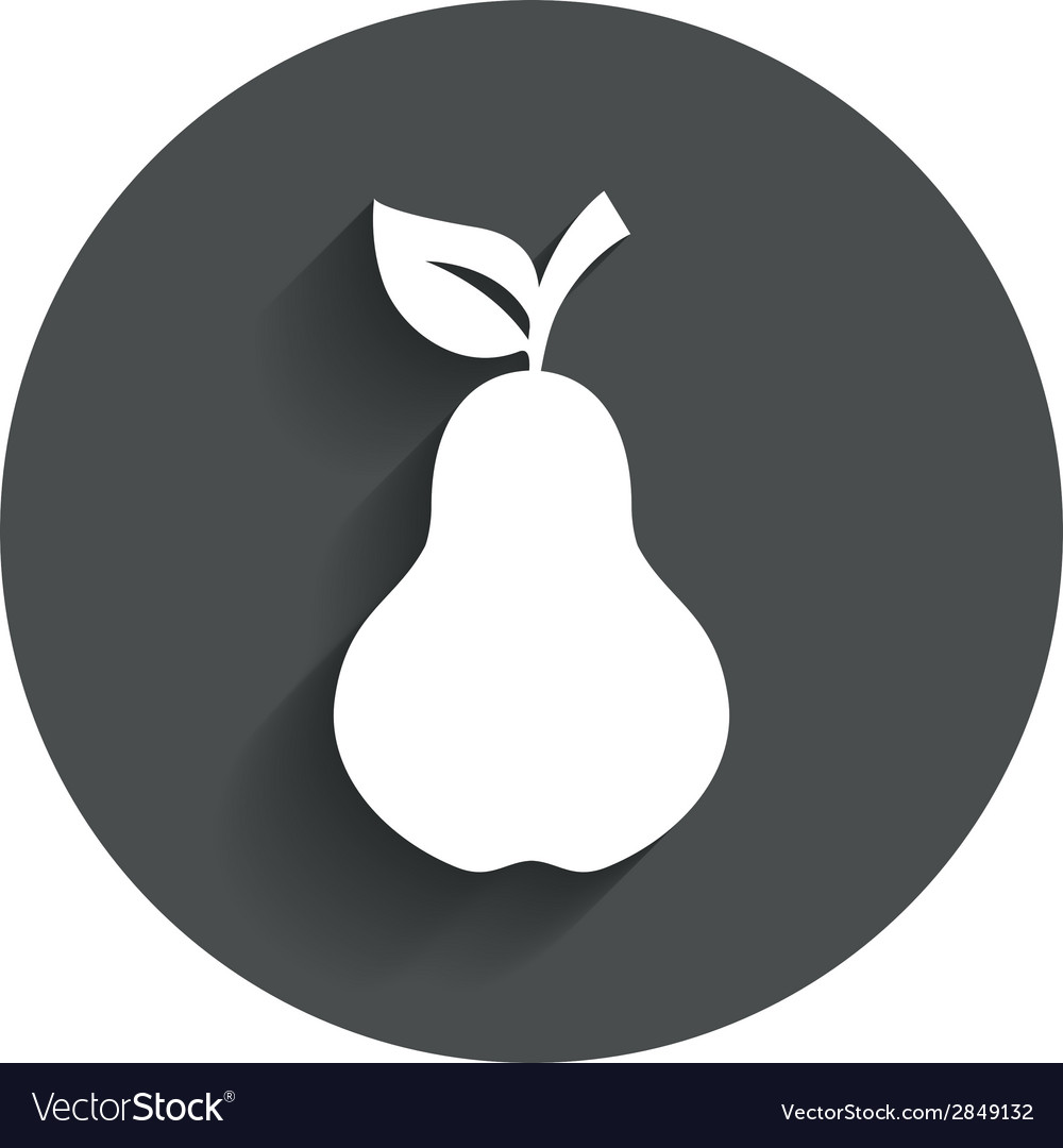 Pear with leaf sign icon fruit symbol vector   Price: 1 Credit (USD $1)