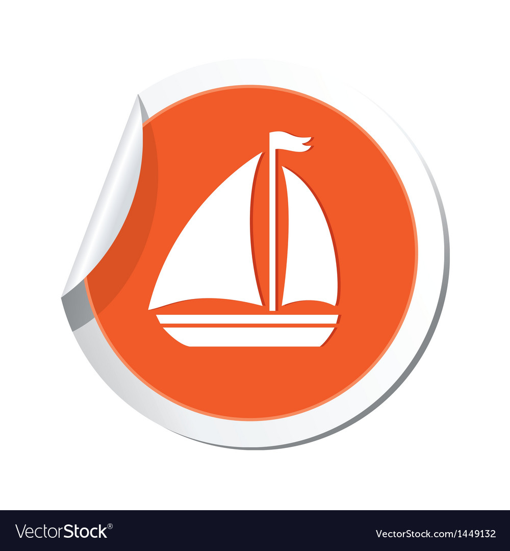 Sailboat icon vector | Price: 1 Credit (USD $1)