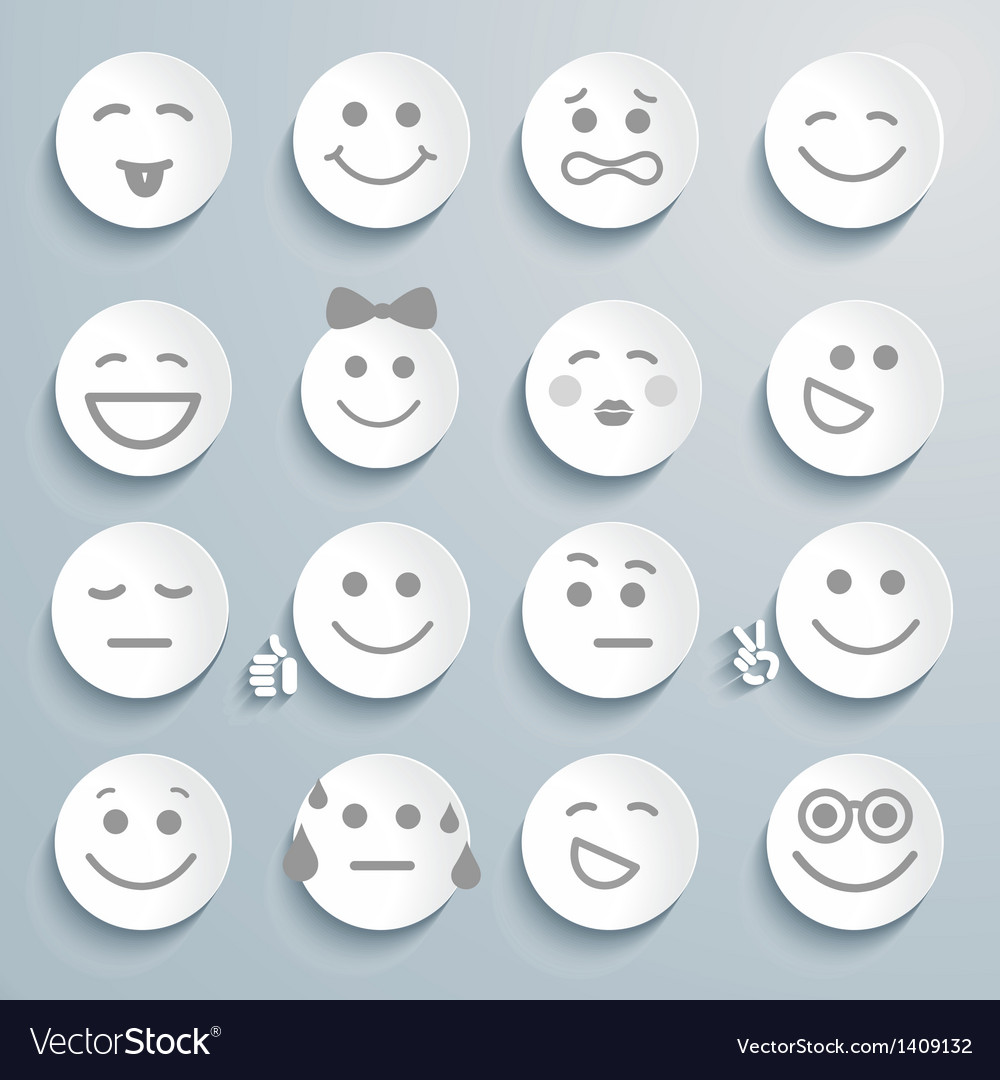 Set of faces with various emotion expressions vector | Price: 1 Credit (USD $1)