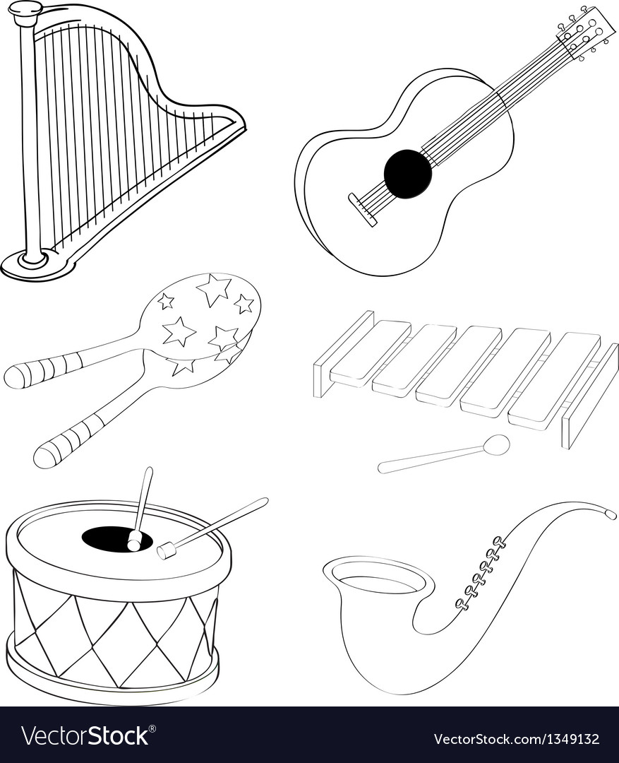 Silhouettes of the different kinds of musical vector | Price: 1 Credit (USD $1)