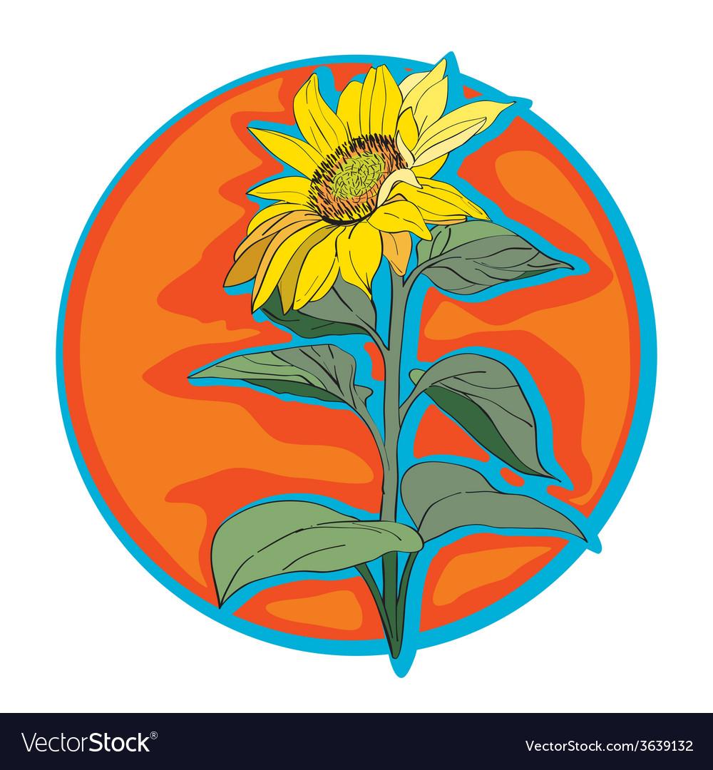 Sunflower clip art vector | Price: 1 Credit (USD $1)