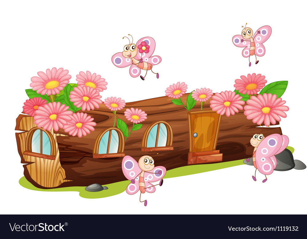 Wooden flower house vector | Price: 1 Credit (USD $1)