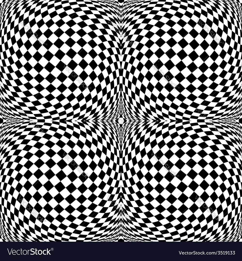 Design monochrome motion checkered background vector | Price: 1 Credit (USD $1)