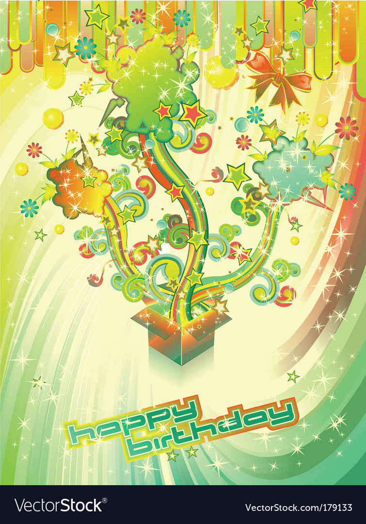 Festive happy birthday background vector | Price: 3 Credit (USD $3)