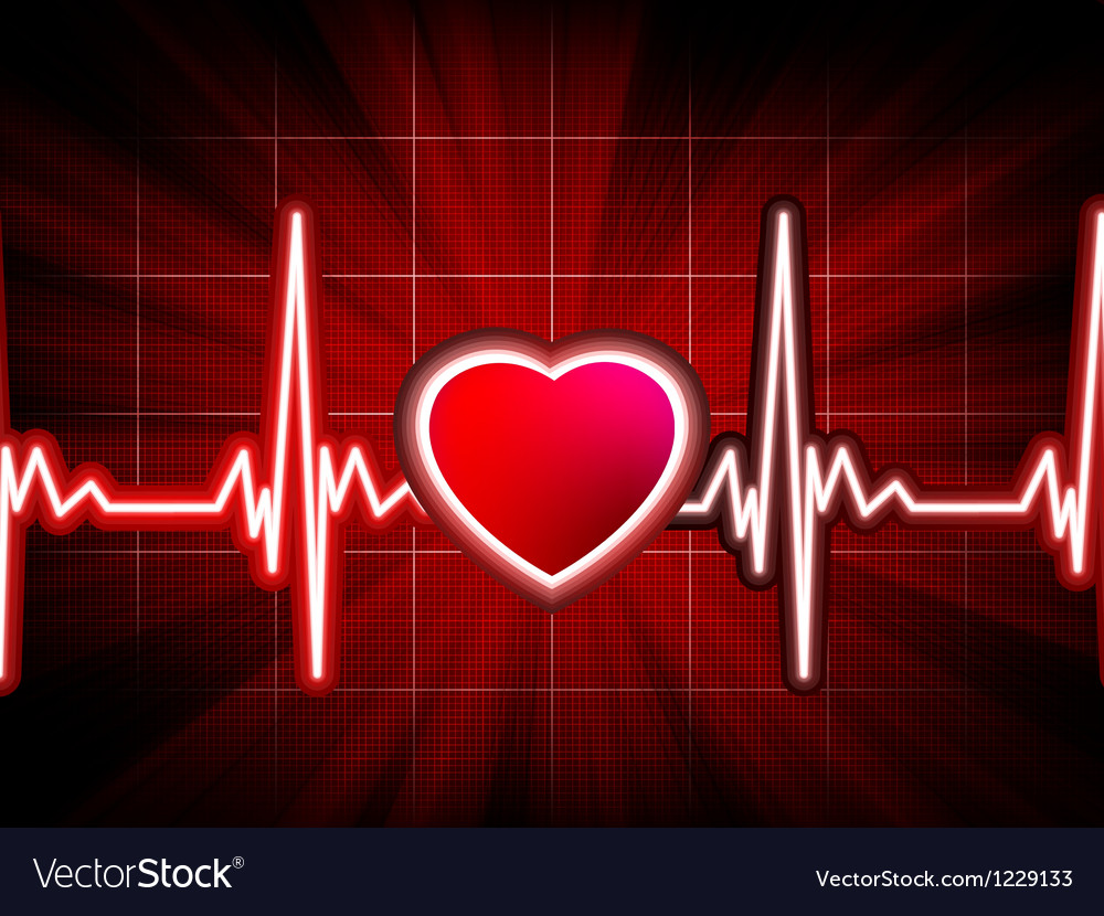 Heart beating monitor vector | Price: 1 Credit (USD $1)