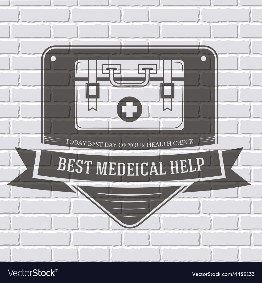 Medical kit logo or label template with blurred vector | Price: 1 Credit (USD $1)