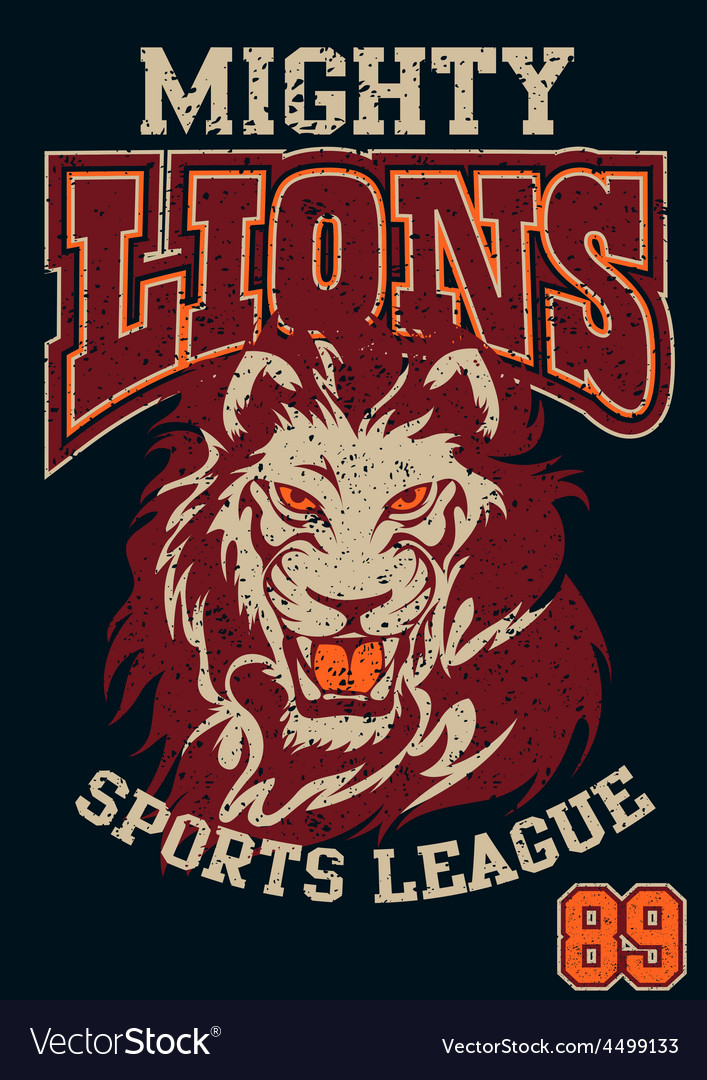 Mighty lions sports league vector | Price: 1 Credit (USD $1)