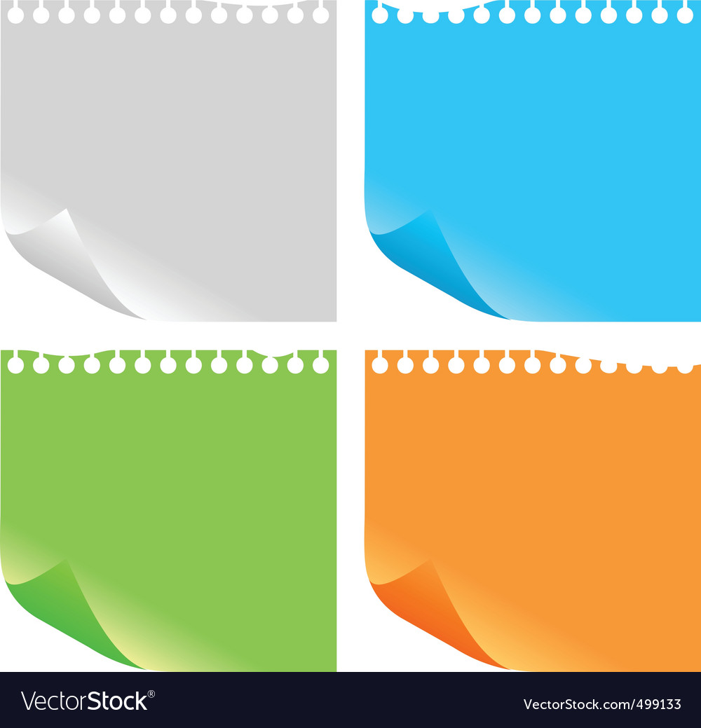 Note pad vector | Price: 1 Credit (USD $1)