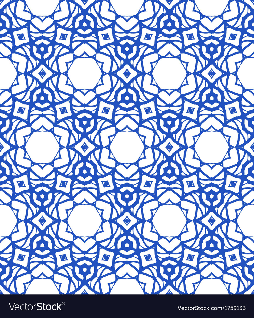 Pattern with mediterranean  moroccan motifs vector | Price: 1 Credit (USD $1)
