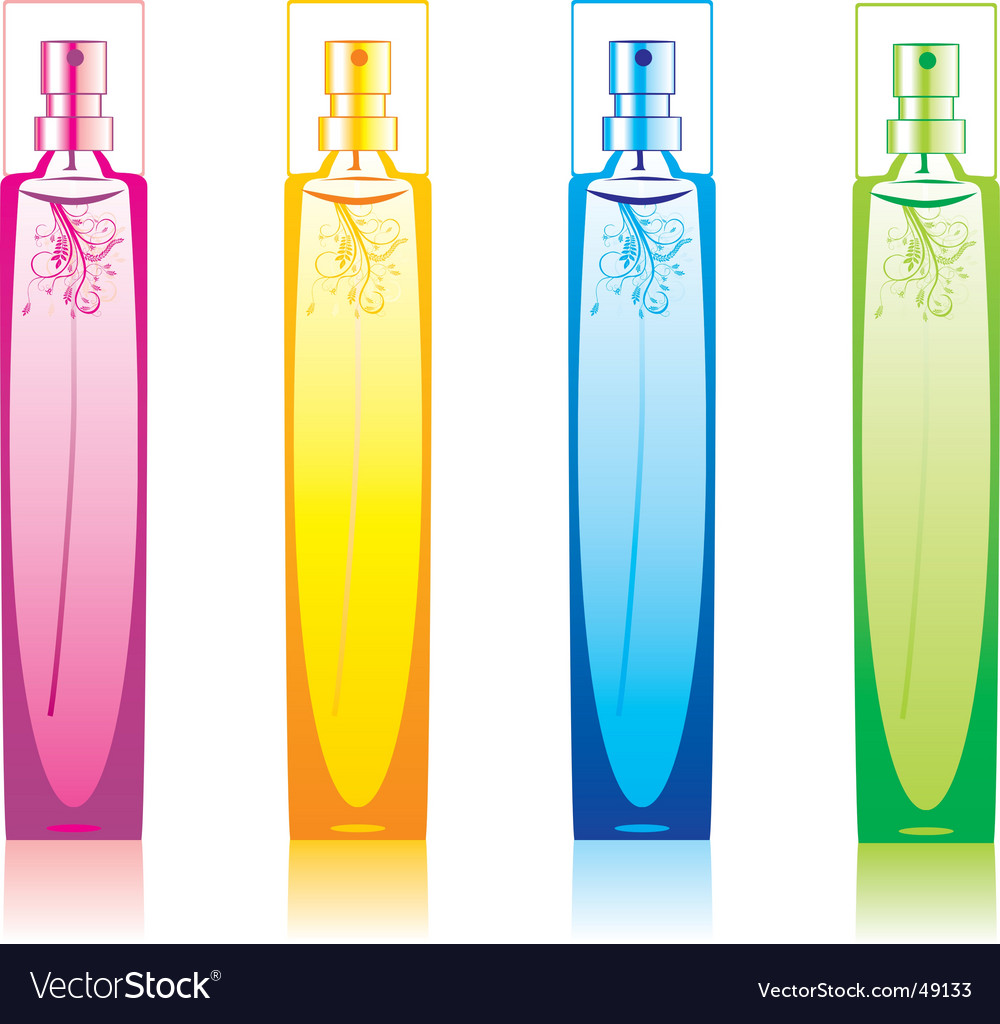 Perfume bottles set vector | Price: 1 Credit (USD $1)