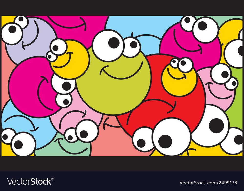 Positive balls background vector | Price: 1 Credit (USD $1)