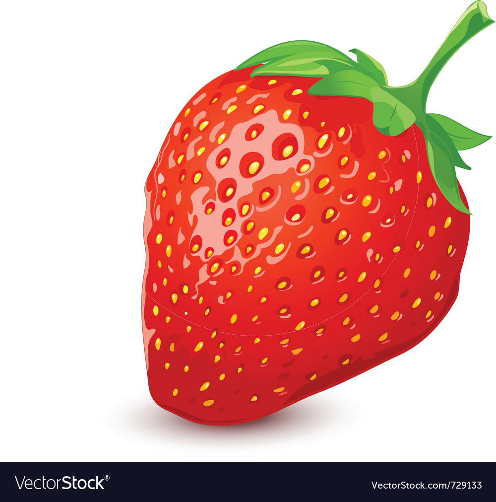 Ripe strawberry vector | Price: 1 Credit (USD $1)