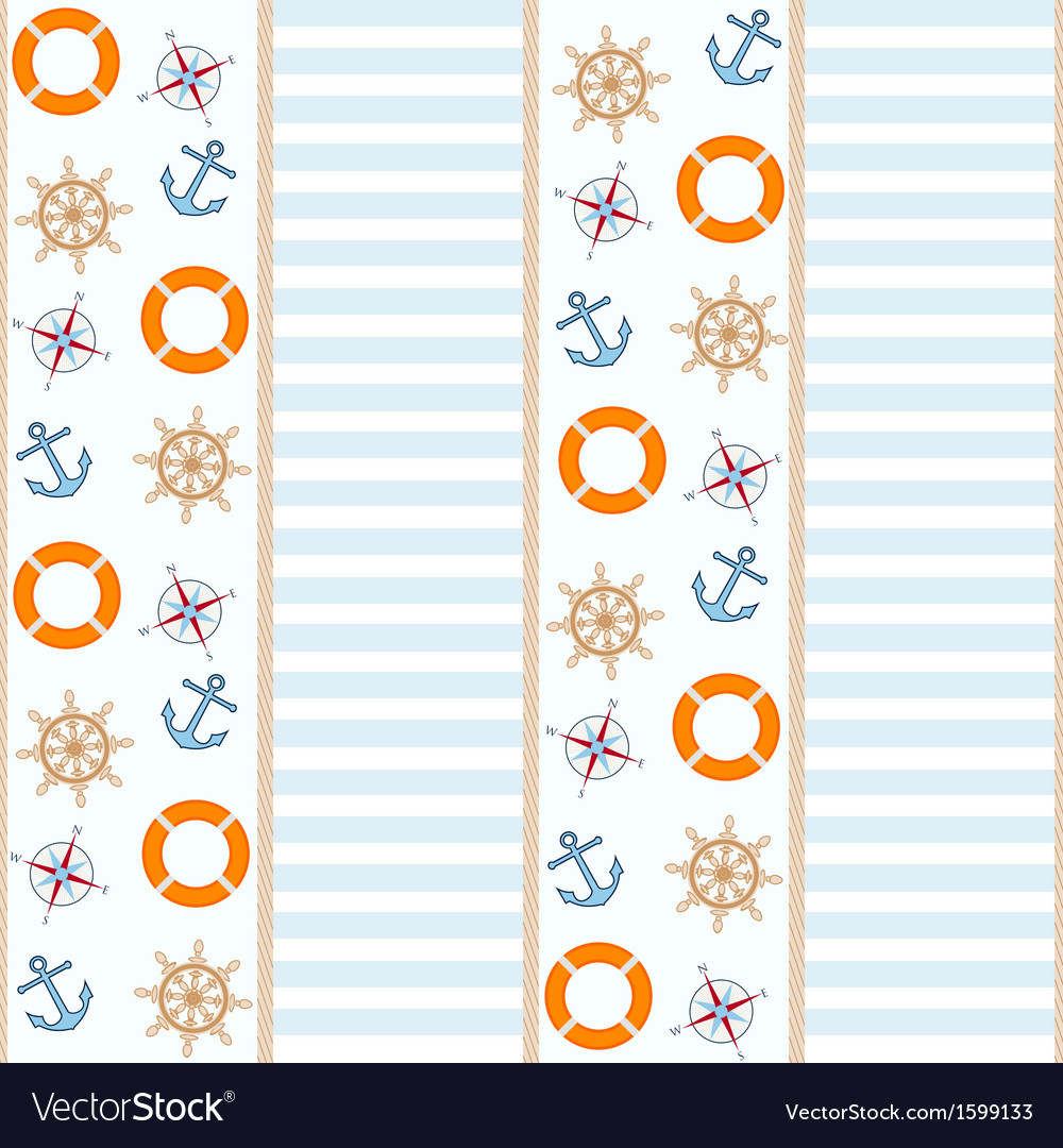 Sea and nautical background vector | Price: 1 Credit (USD $1)