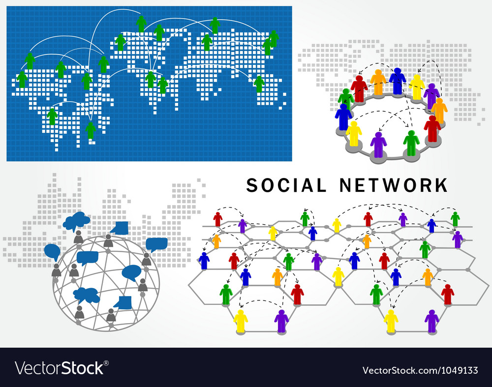 Social network structure vector | Price: 1 Credit (USD $1)