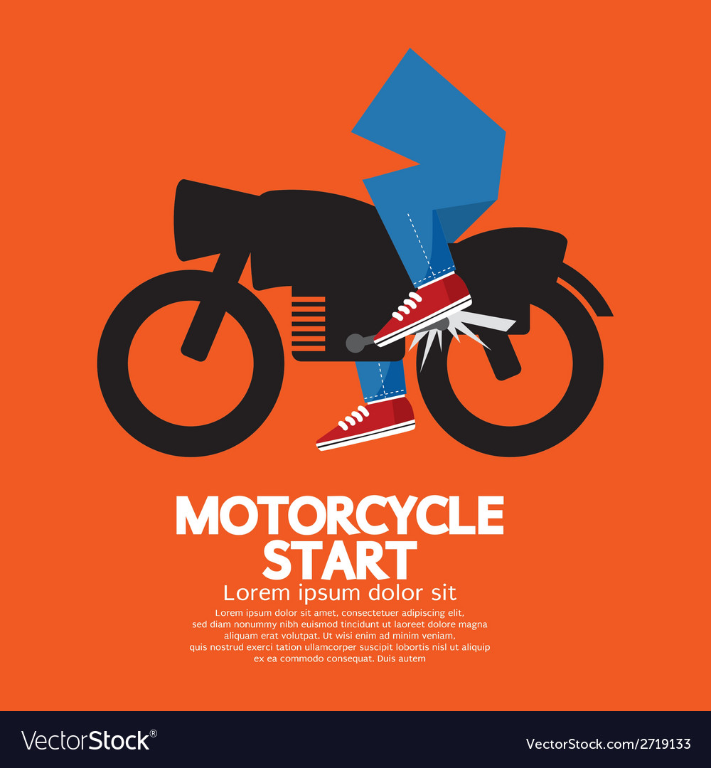 Starting motorcycle graphic vector | Price: 1 Credit (USD $1)