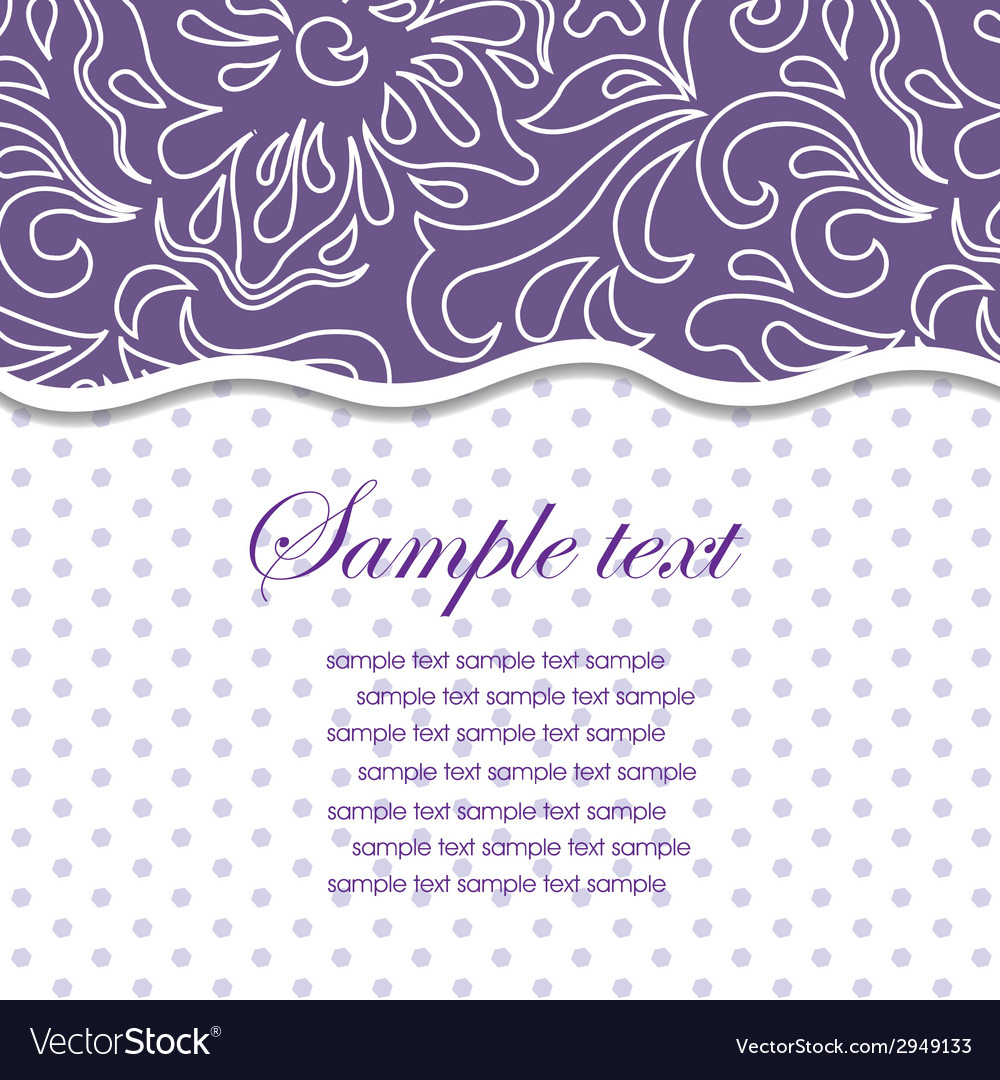 Template frame design for greeting card vector | Price: 1 Credit (USD $1)