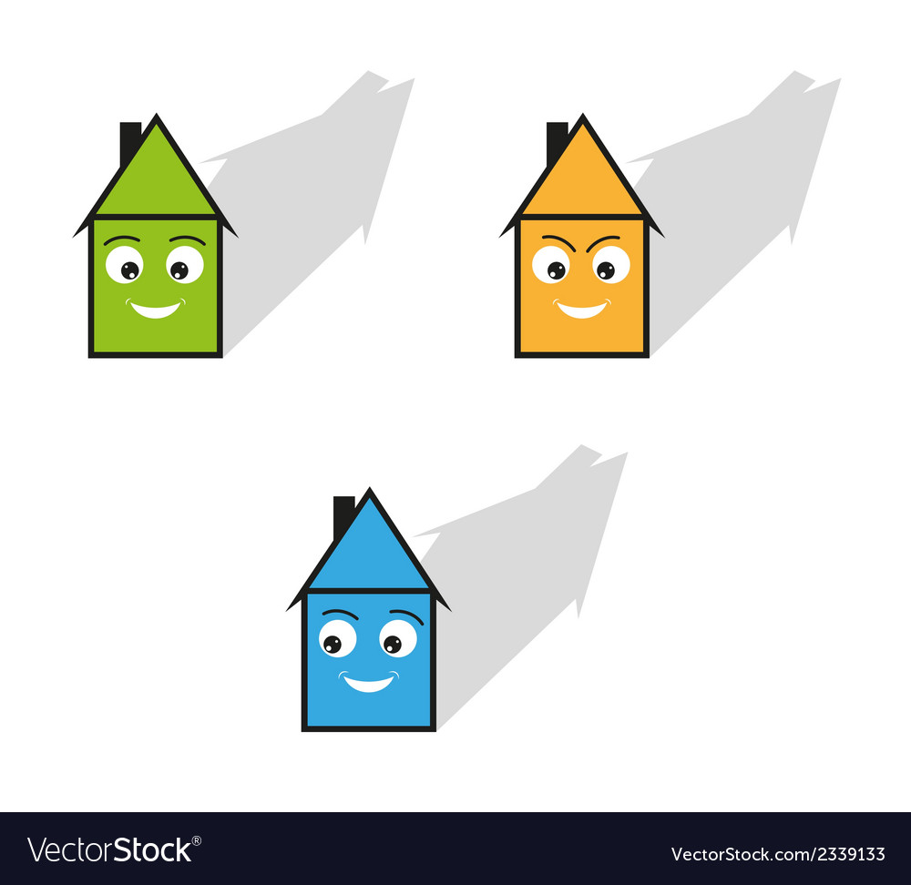 Three houses vector | Price: 1 Credit (USD $1)