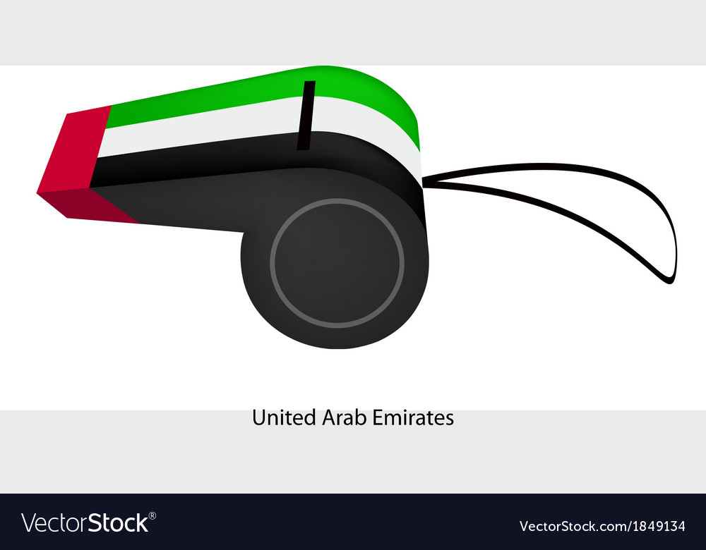 A whistle of the united arab emirates vector | Price: 1 Credit (USD $1)