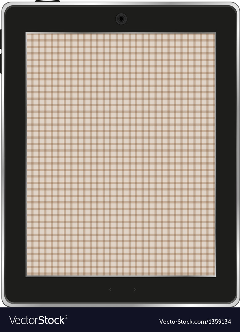 Black abstract tablet computer tablet pc on white vector | Price: 1 Credit (USD $1)